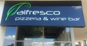 Alfrescos retail cafe sign