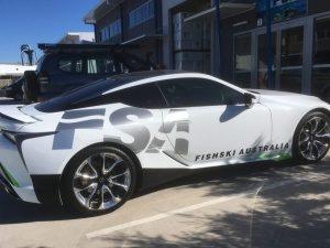 Car wrap fish ski Lexus